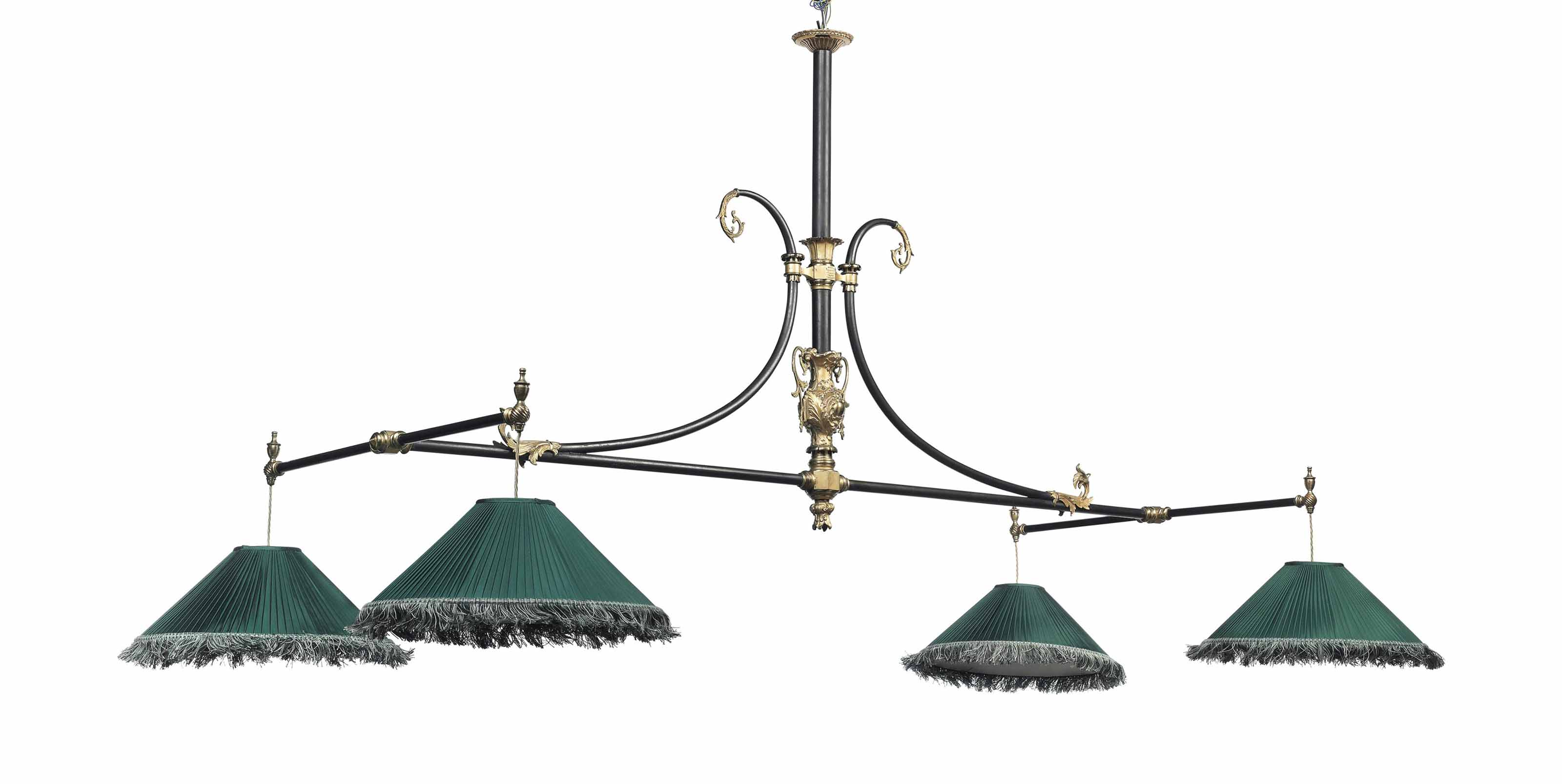 A VICTORIAN GILT AND PATINATED
