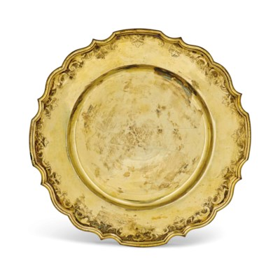 A GERMAN SILVER-GILT PLATE OR