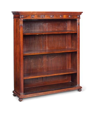 AN ENGLISH ROSEWOOD OPEN BOOKC