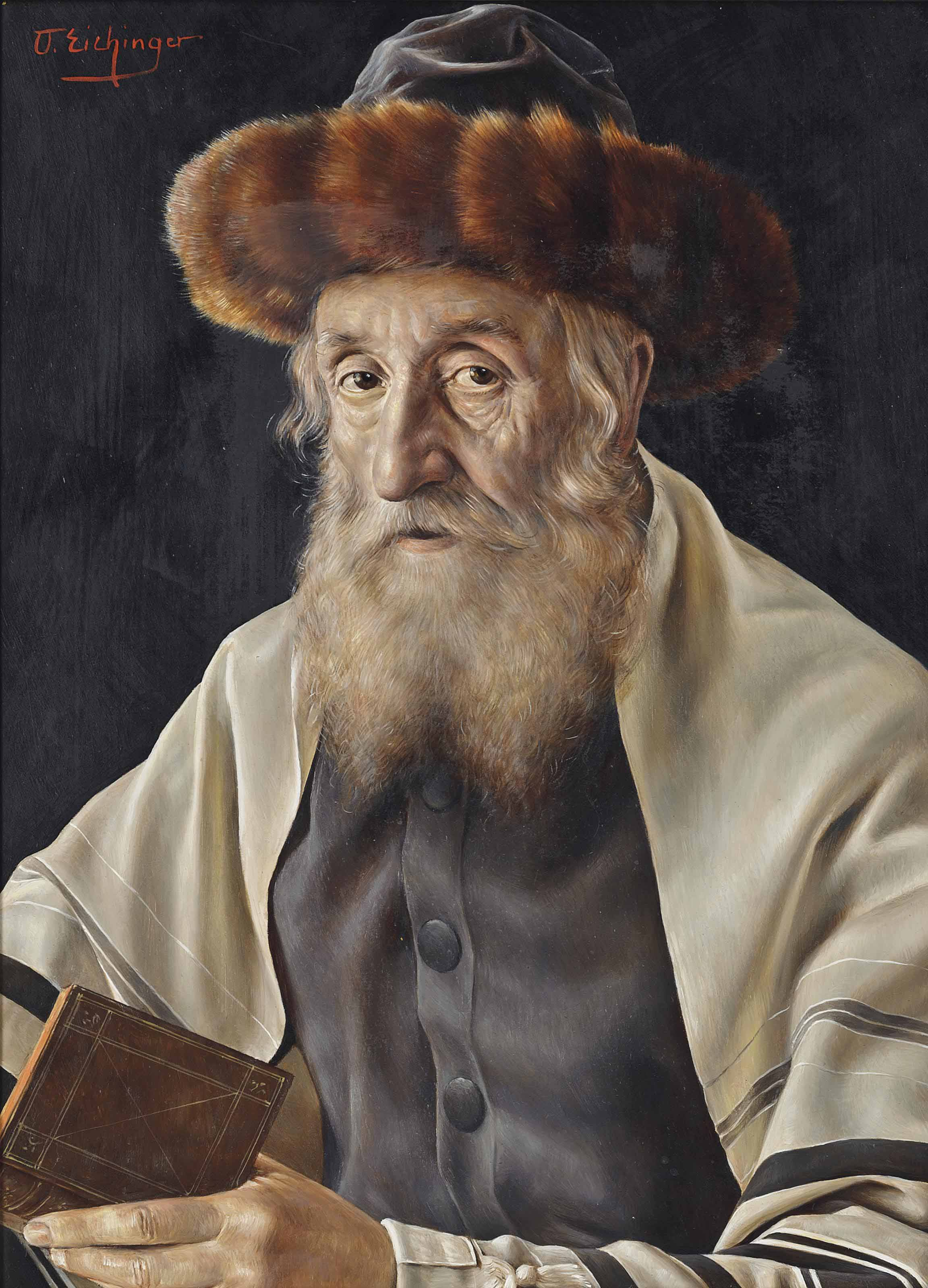 A Rabbi reading