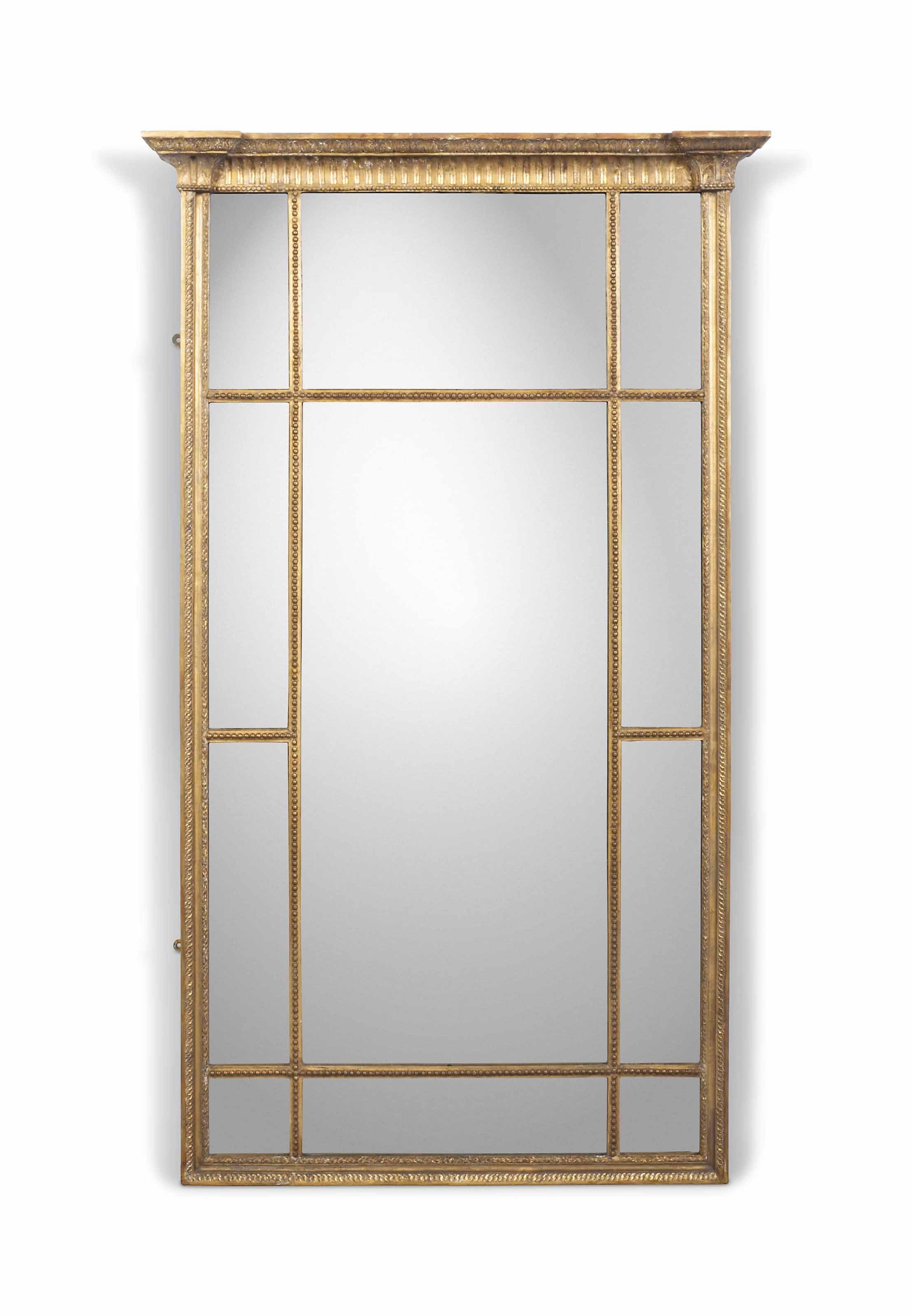 A GILTWOOD AND COMPOSITION PIER MIRROR