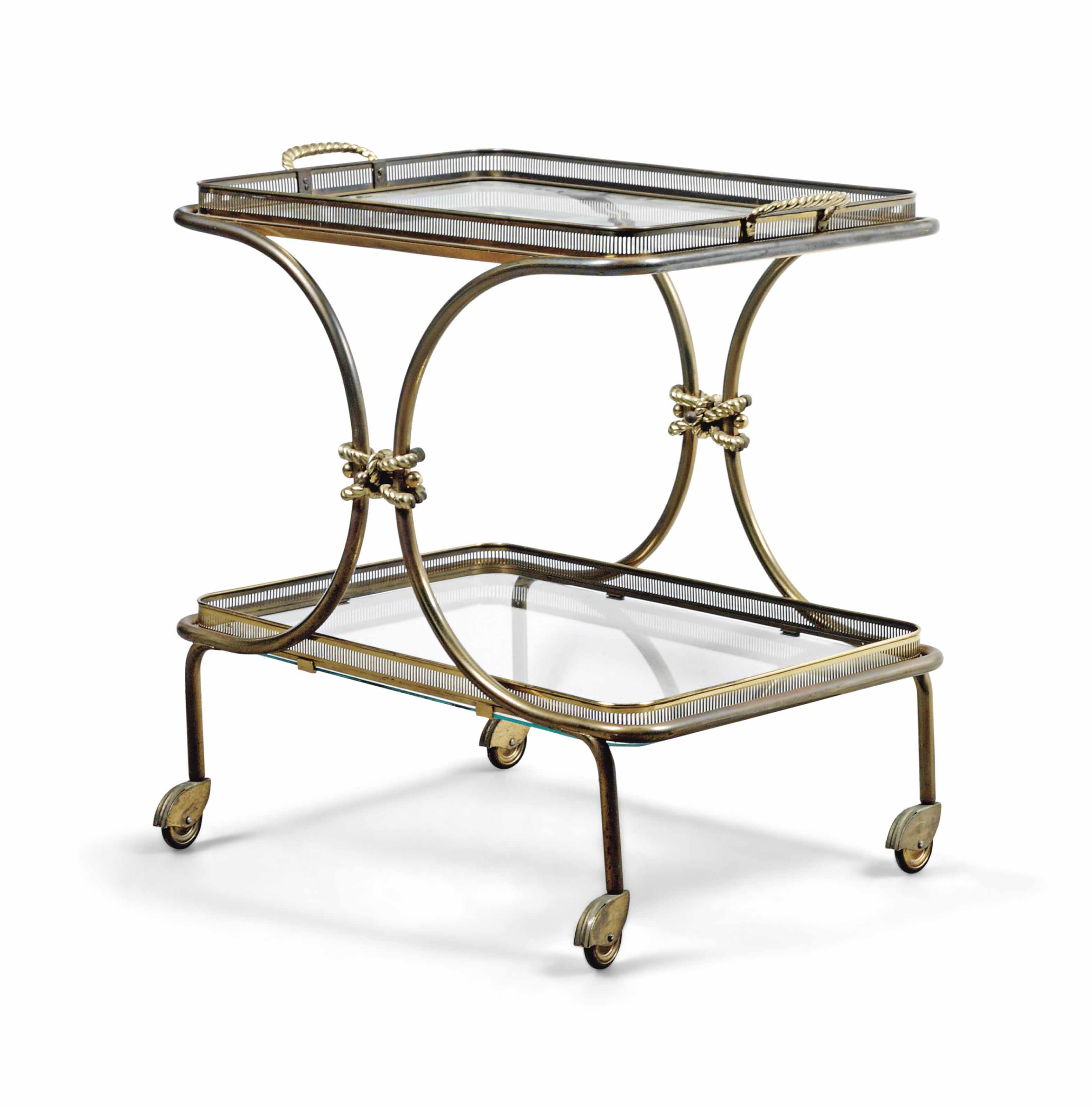 A FRENCH BRASS, GILT-METAL AND