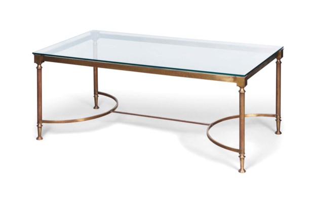 A FRENCH BRASS COFFEE TABLE