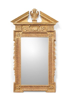 AN ENGLISH CARVED GILTWOOD MIR