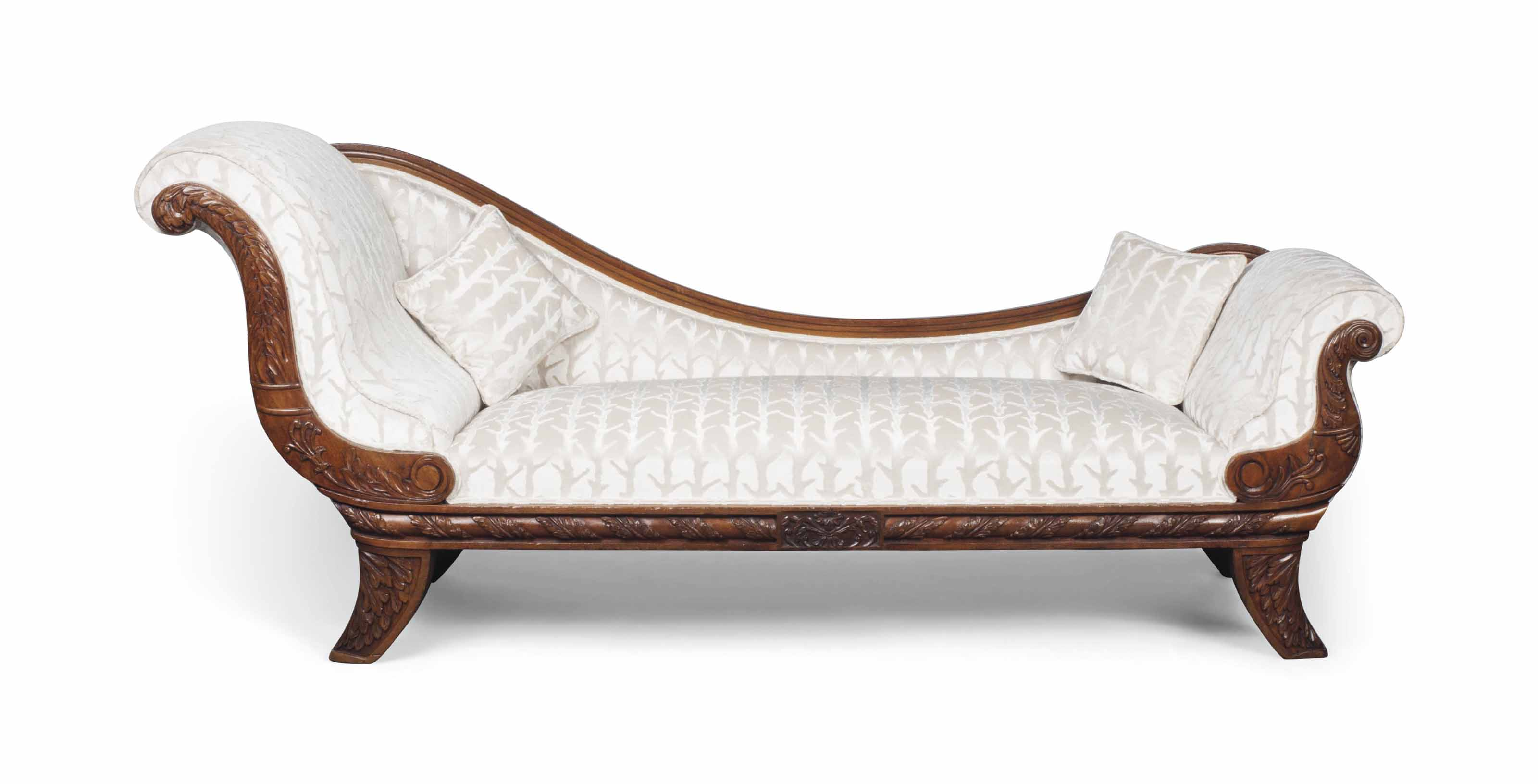 AN ANGLO-INDIAN TEAK DAYBED
