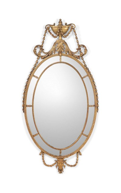 A NEO-CLASSICAL OVAL GILTWOOD
