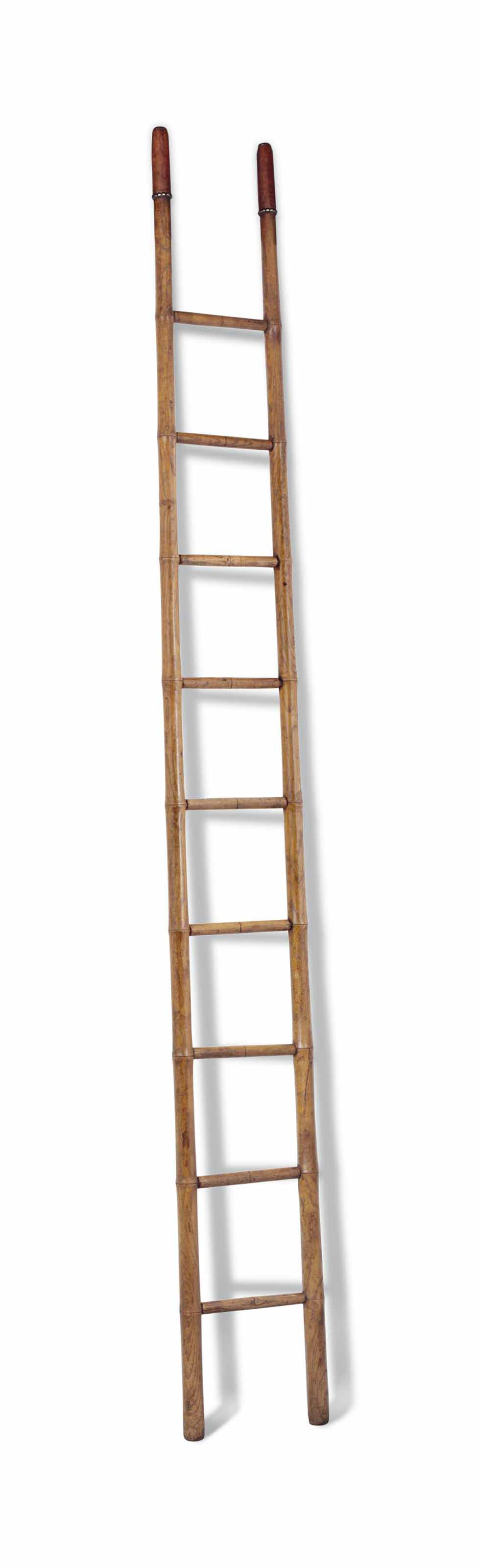 A FRENCH ASH LIBRARY LADDER