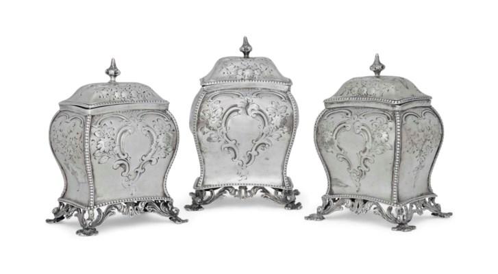 A SET OF THREE GEORGE III IRIS