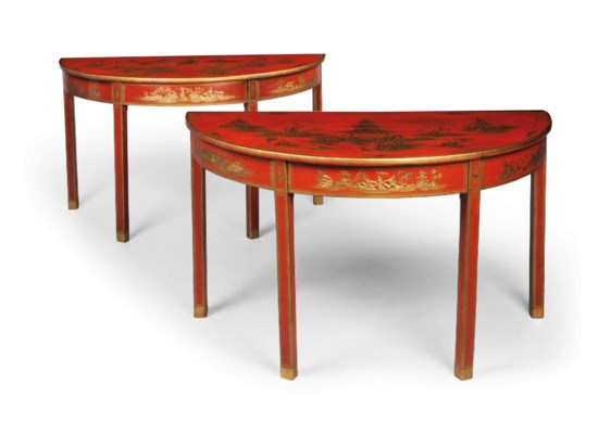 A PAIR OF GEORGE III RED AND G