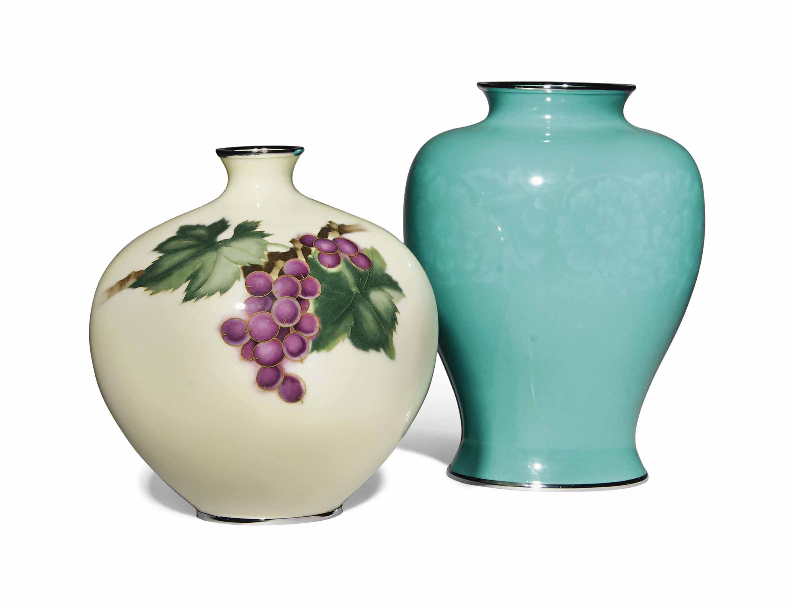 TWO JAPANESE CLOISONNÉ VASES