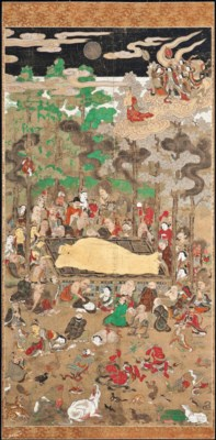 A JAPANESE HANGING SCROLL OF '