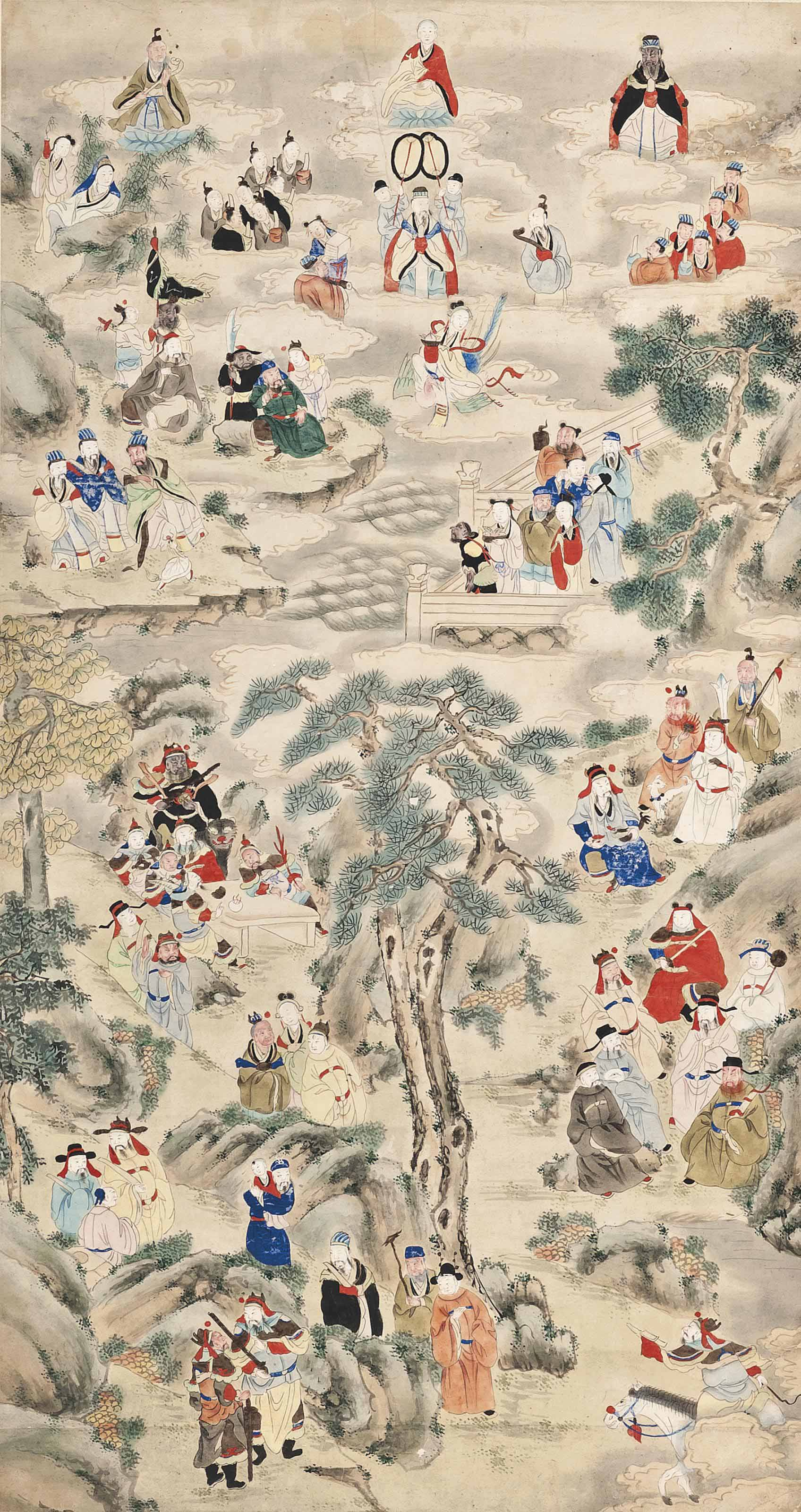A CHINESE HANGING SCROLL PAINT