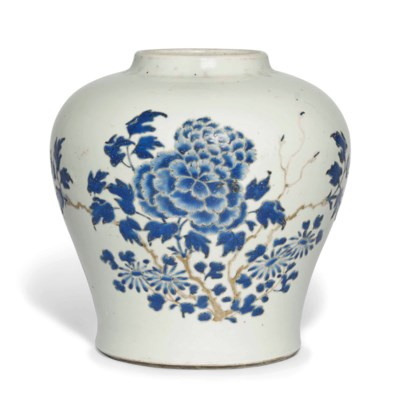 A CHINESE BLUE AND GILT ENAMEL