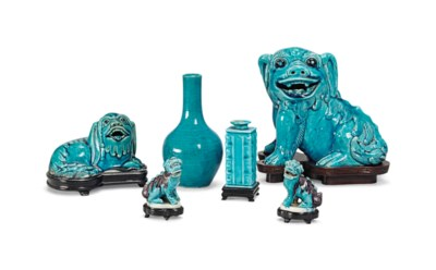 A GROUP OF SIX CHINESE TURQUOI