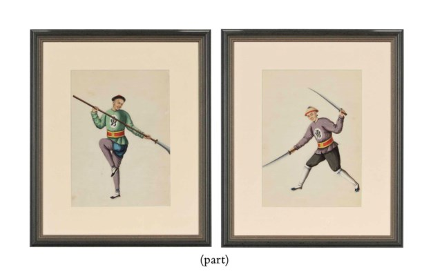 A SET OF TEN CHINESE PAINTINGS