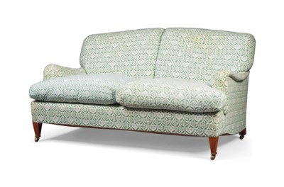 A HOWARD TWO-SEATER SOFA