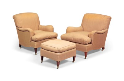 A PAIR OF HOWARD & SONS EASY A