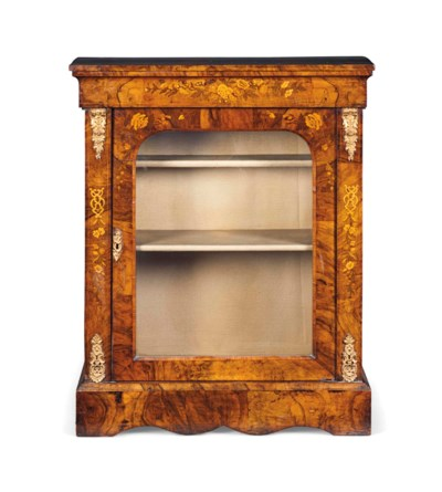 A LATE VICTORIAN MARQUETRY AND