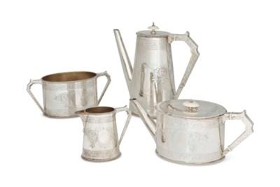 A VICTORIAN SILVER 4-PIECE TEA