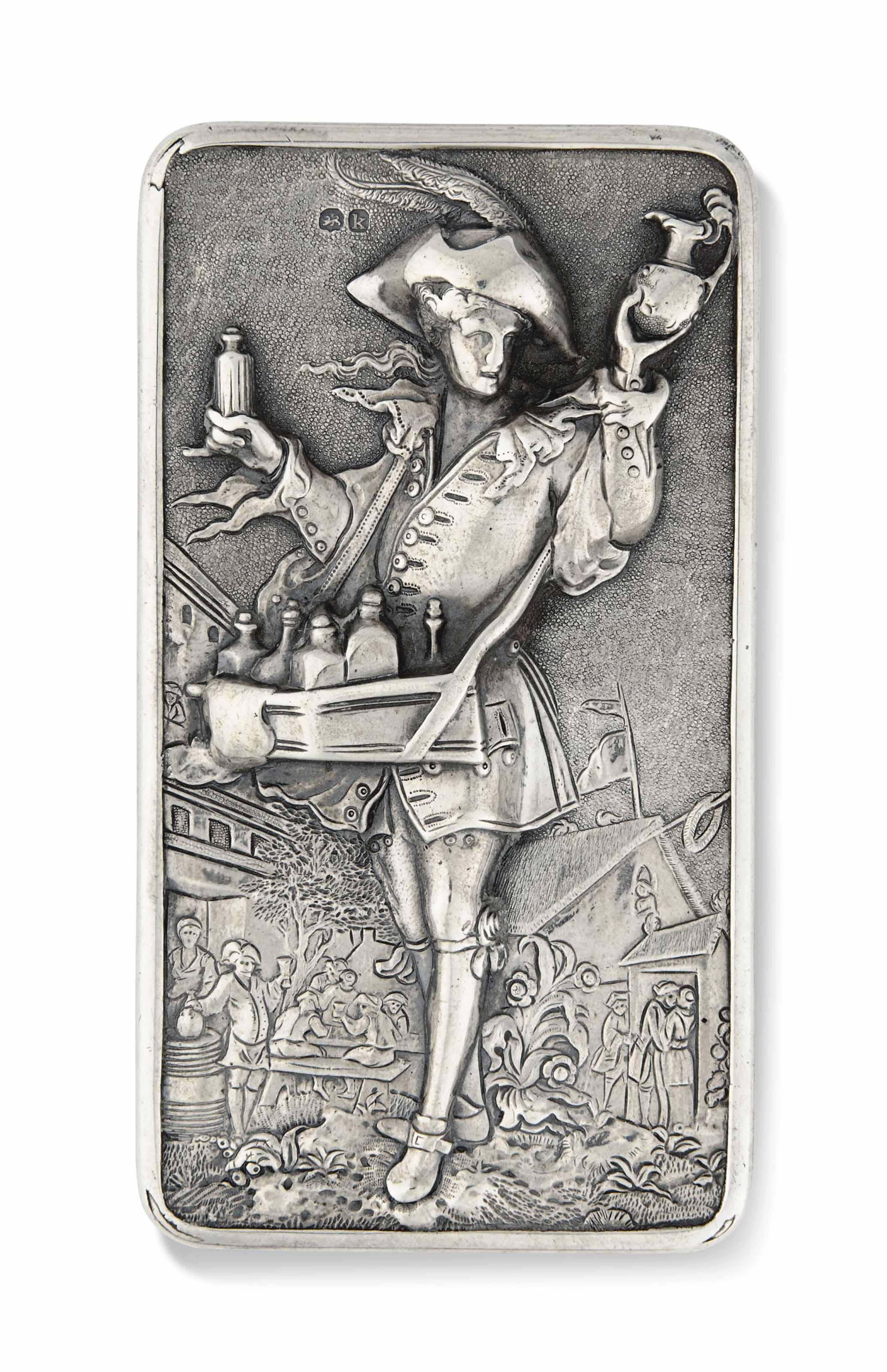 A GEORGE IV SILVER PEDLAR SNUF