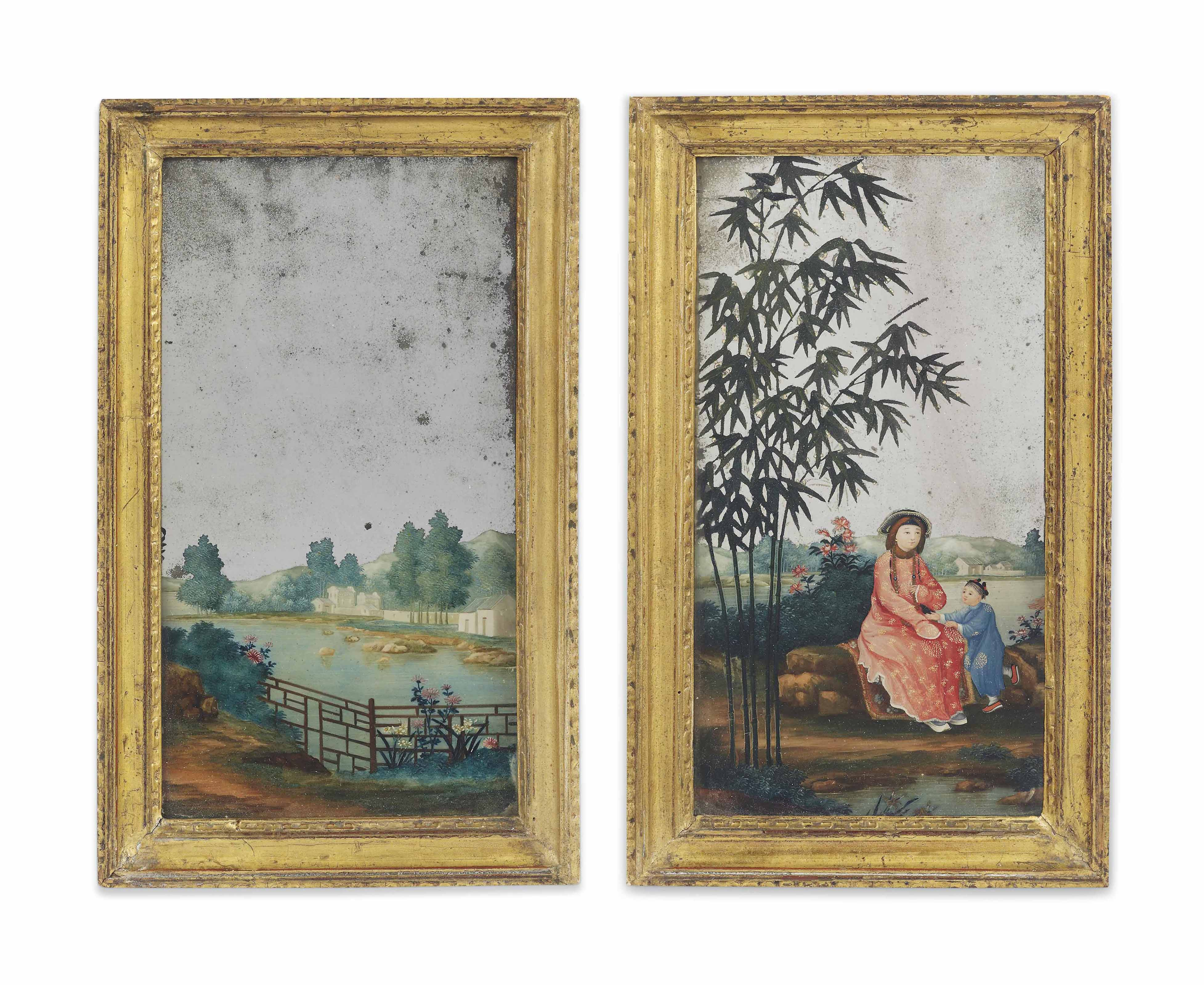 A PAIR OF CHINESE FRAMED REVER