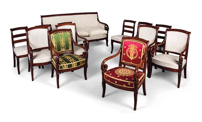 A SUITE OF FRENCH MAHOGANY SEA