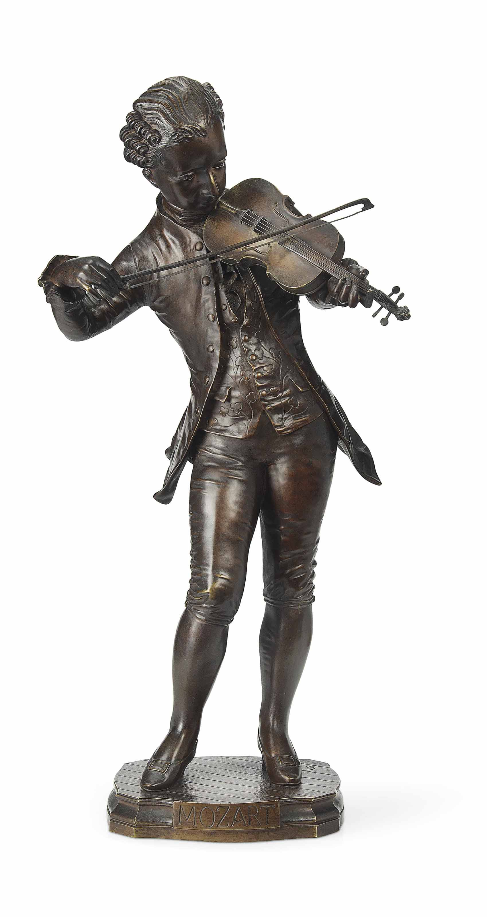 A FRENCH BRONZE FIGURE OF THE