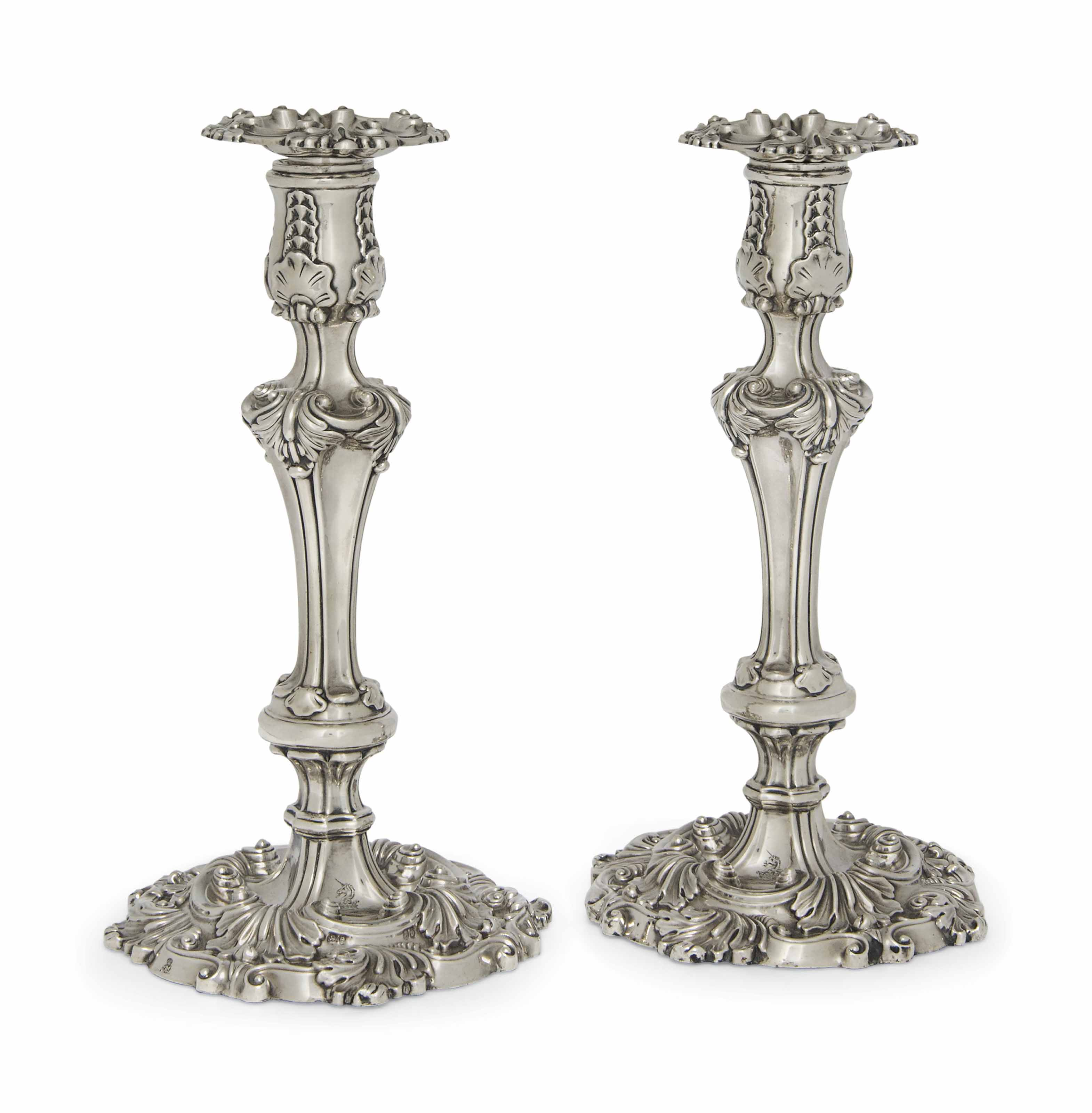 A PAIR OF WILLIAM IV ROCOCO RE