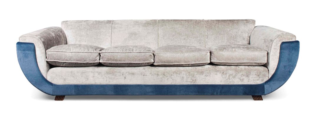 A LARGE SOFA IN THE MANNER OF