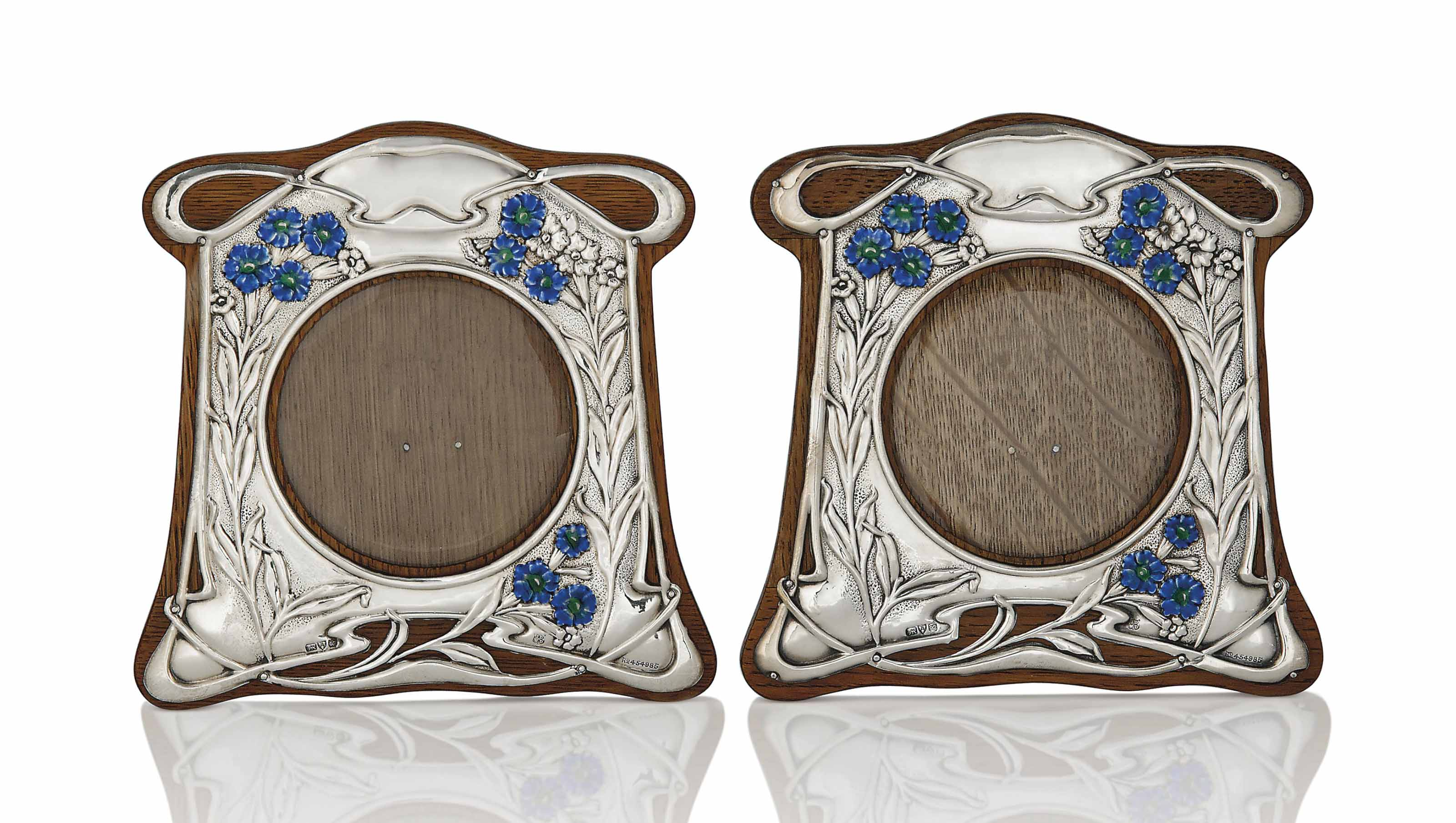 A PAIR OF SILVER, ENAMEL AND O