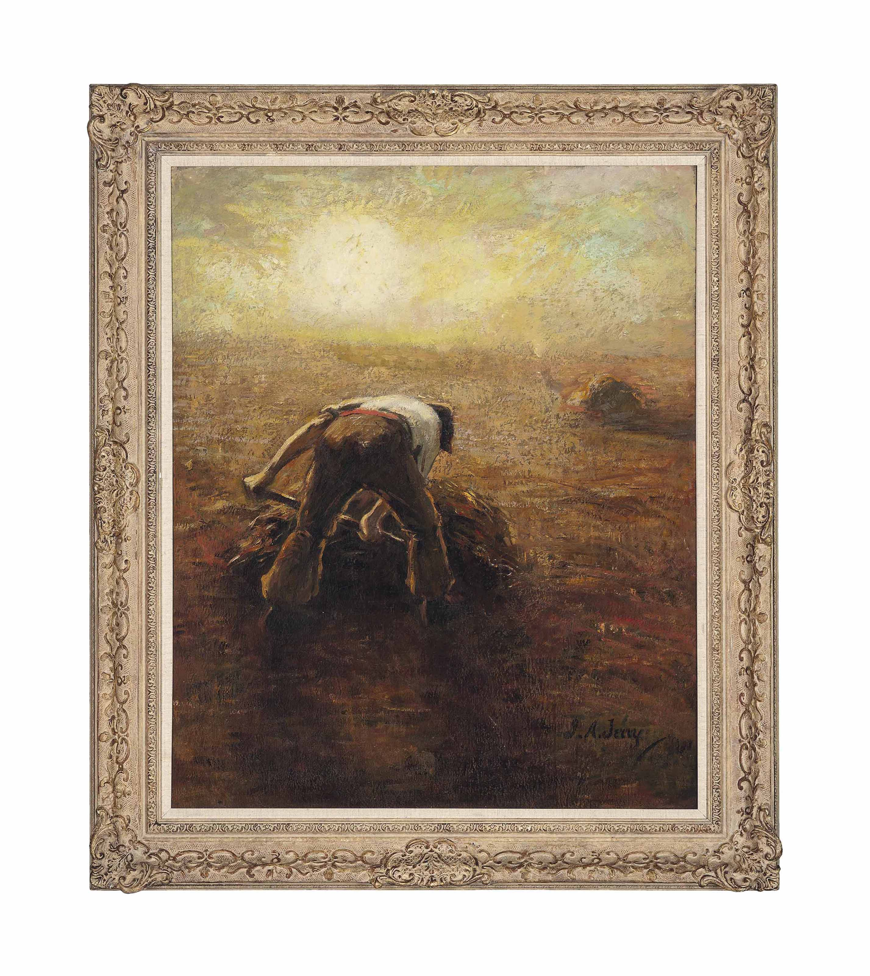 The field worker, early evening