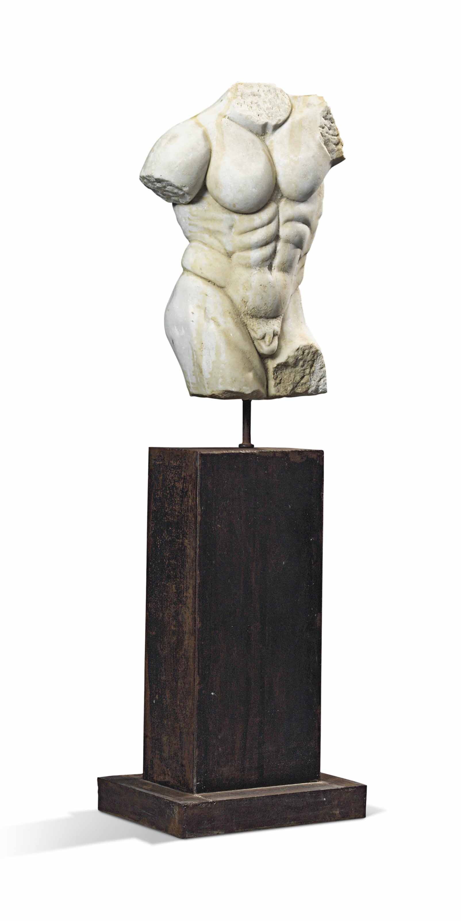A MARBLE CLASSICAL STYLE TORSO