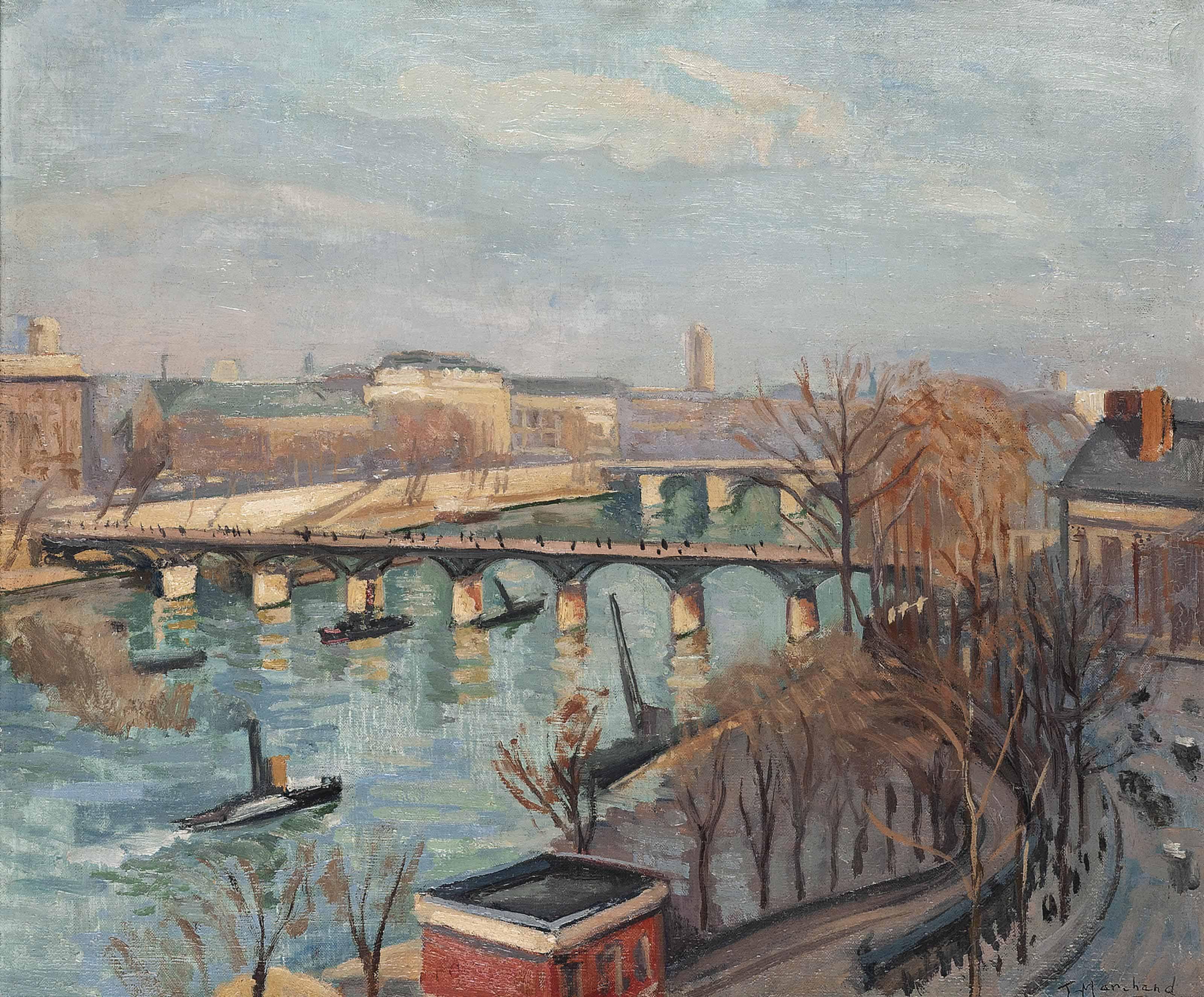 The Pont des Arts and Pont Neuf, Paris
