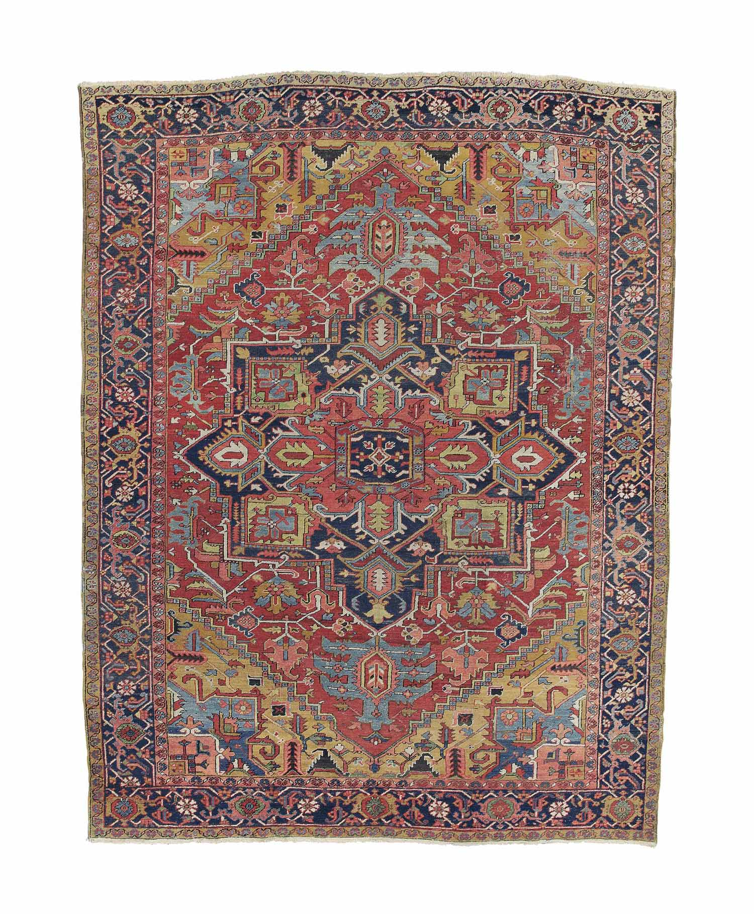 An antique Heriz carpet