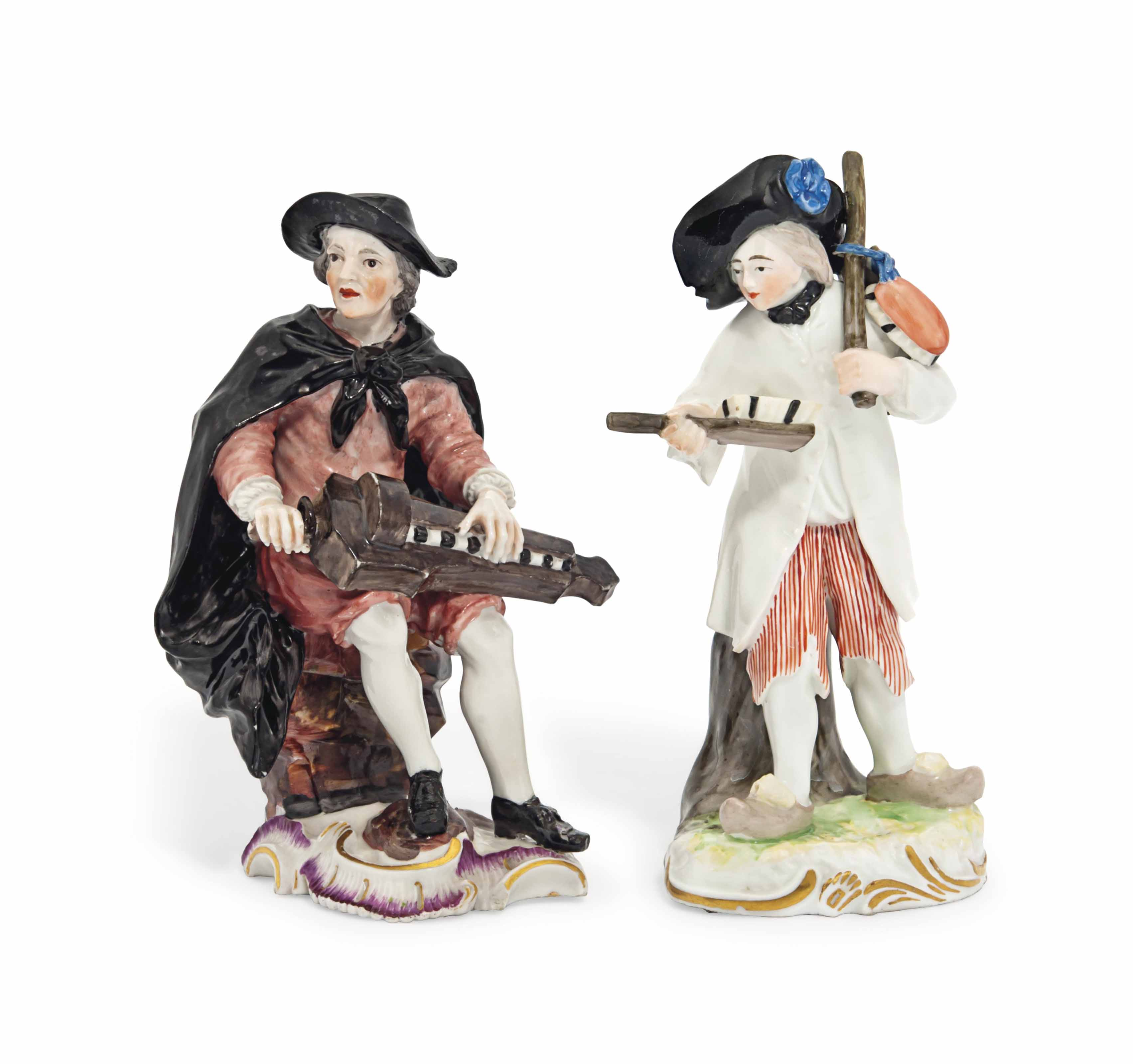 TWO FRANKENTHAL FIGURES OF A H