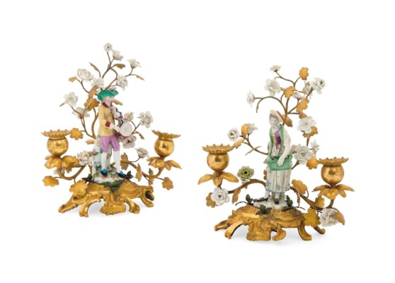 TWO PORCELAIN ORMOLU-MOUNTED T
