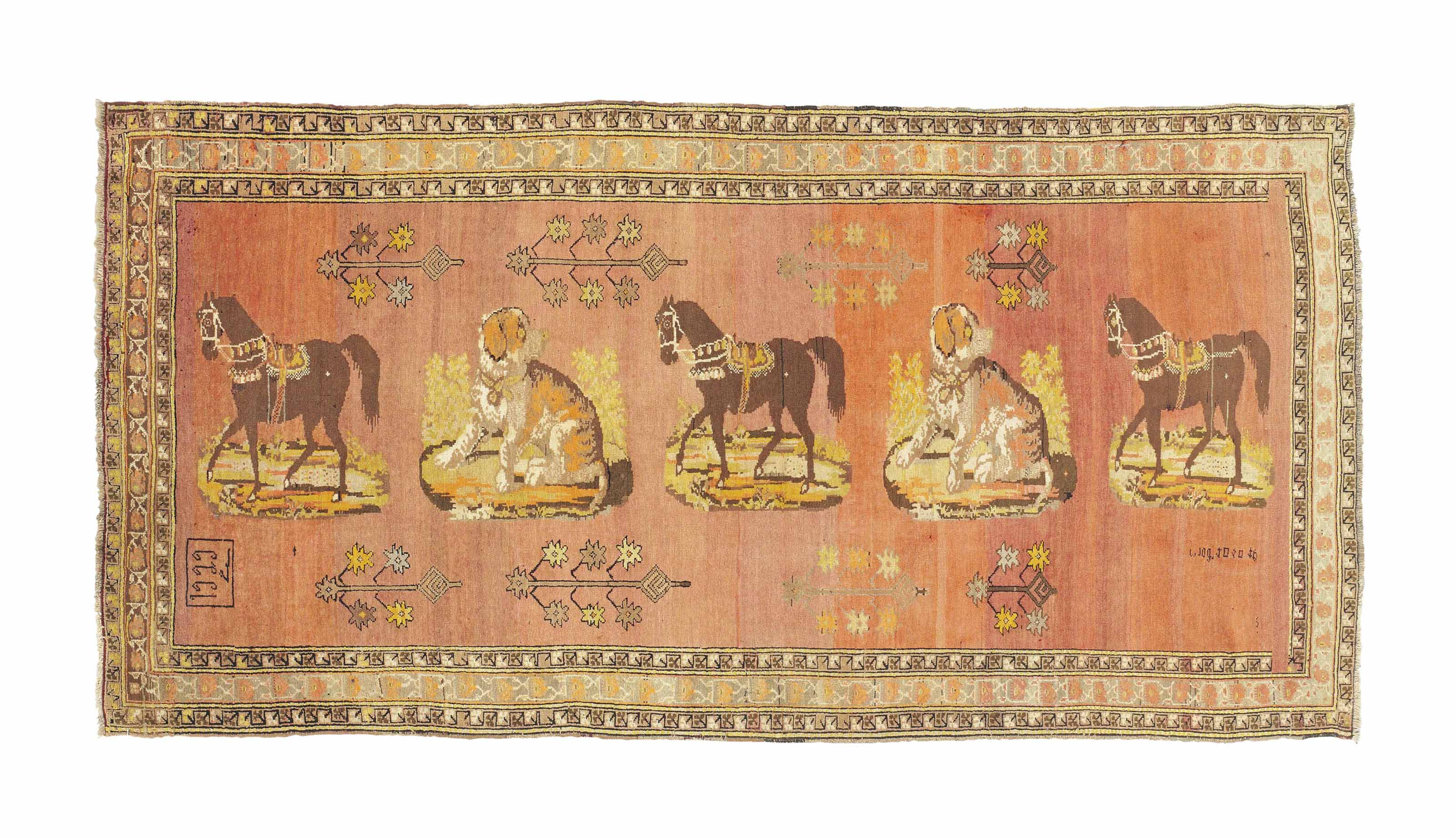 An unusual Karabagh long rug