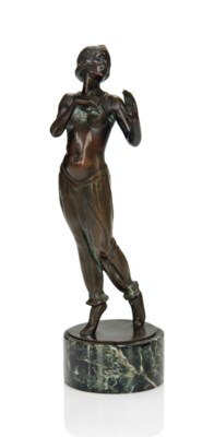 'ORIENTAL DANCER', A PATINATED