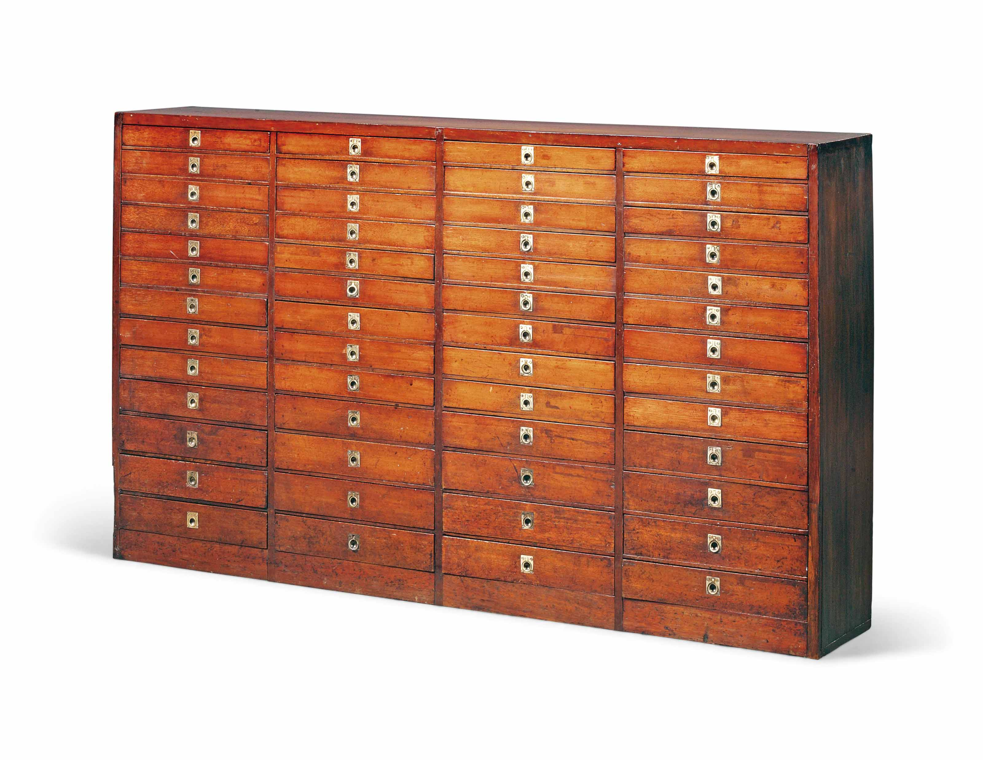 A MAHOGANY COLLECTOR'S CABINET