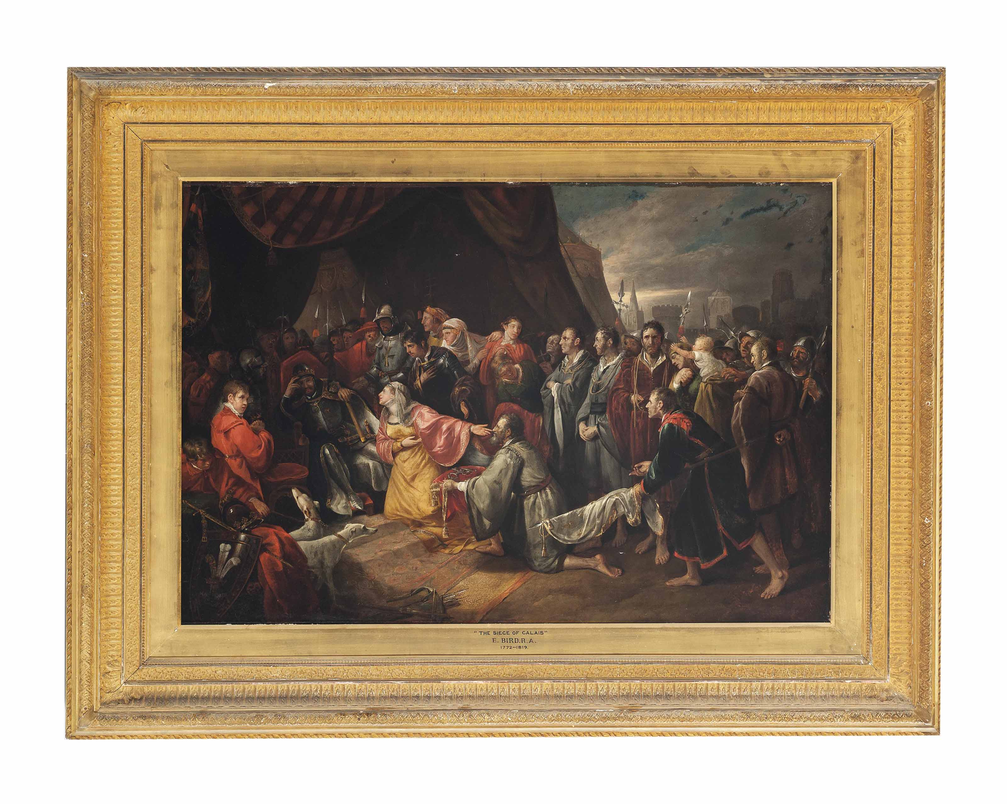Queen Philippa supplicating King Edward to spare the lives of the six burghers of Calais