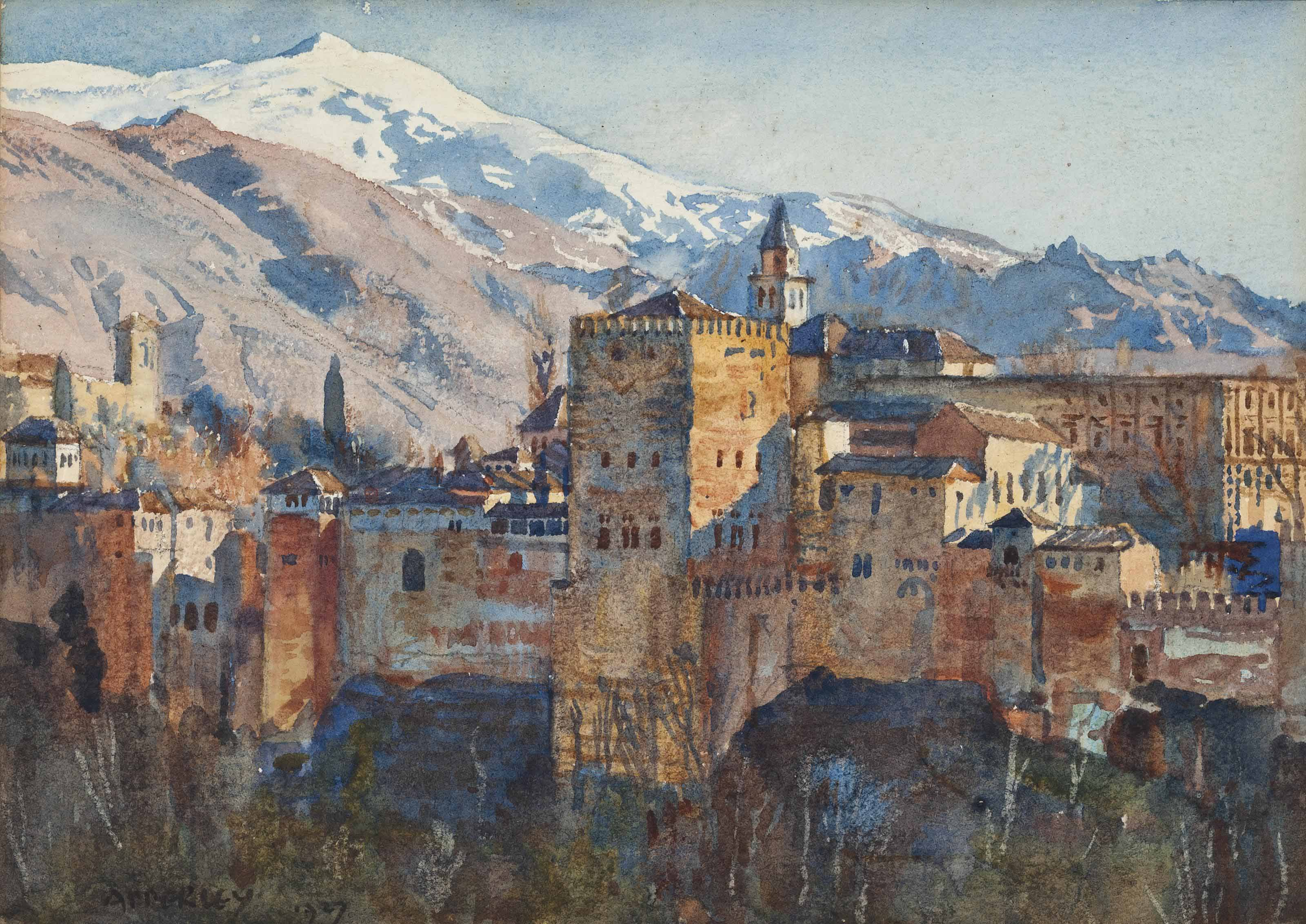 The Alhambra in winter
