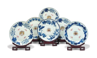 A GROUP OF SIX LARGE CHINESE A