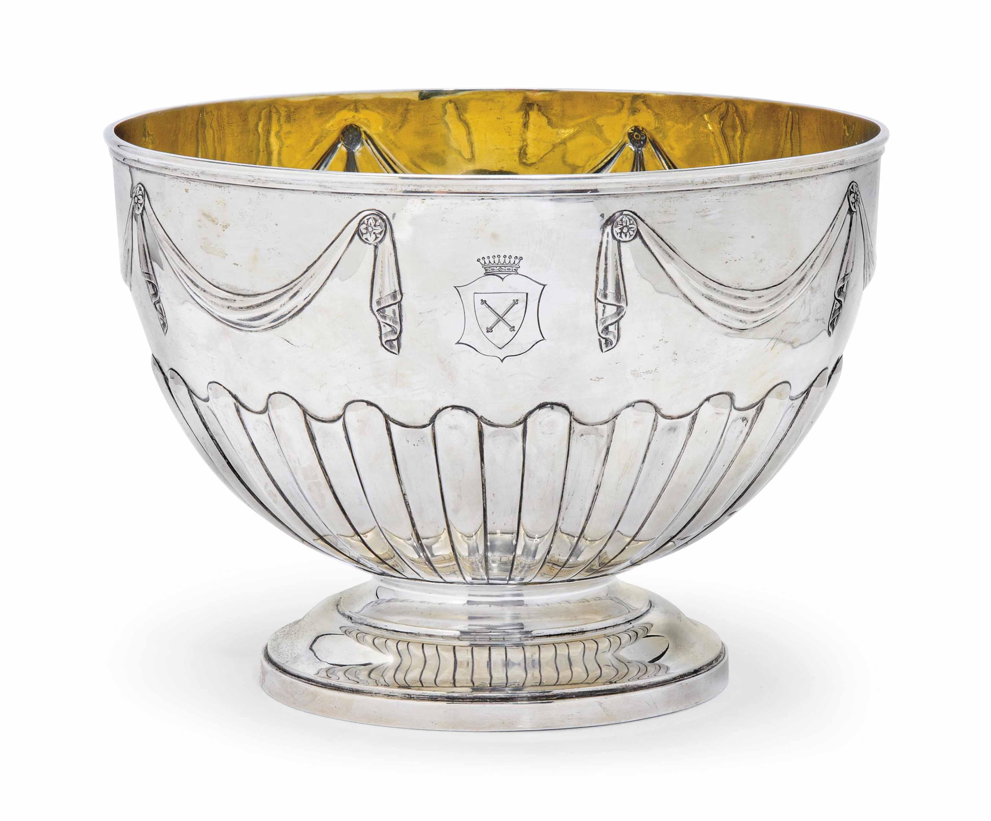 A VICTORIAN SILVER PUNCH OR RO