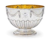 A VICTORIAN SILVER PUNCH OR ROSE BOWL