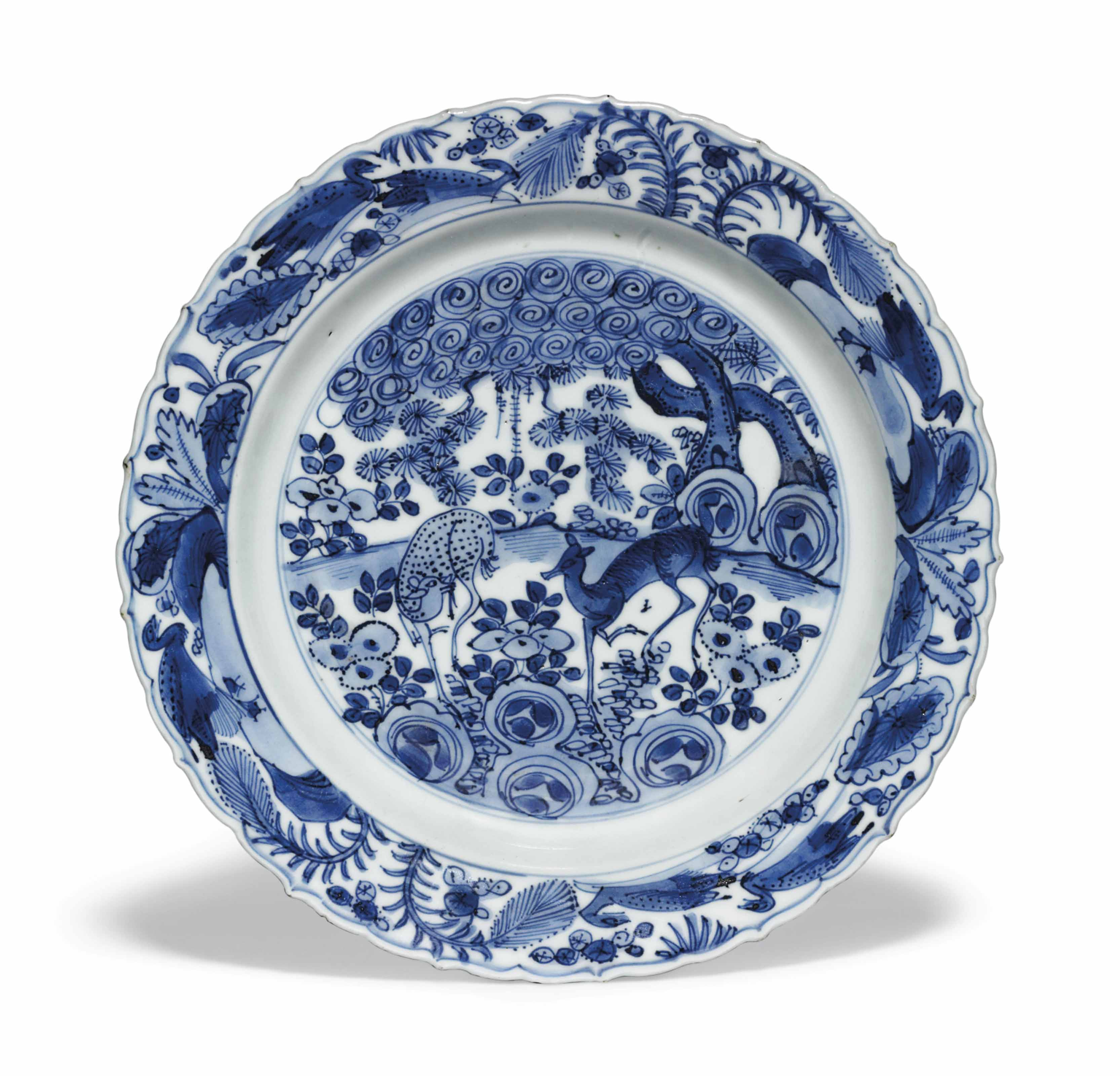 A CHINESE BLUE AND WHITE FOLIA