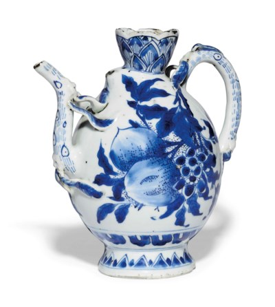 AN UNUSUAL CHINESE BLUE AND WH