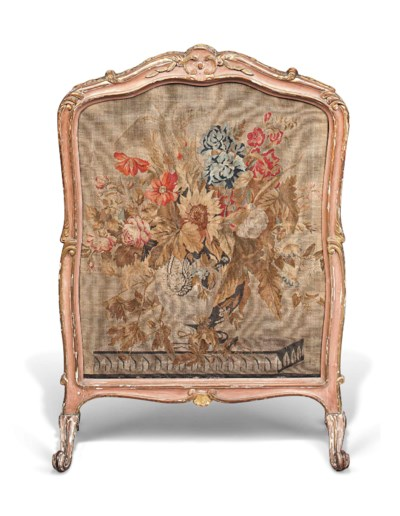 A LOUIS XV DUSTY PINK-PAINTED