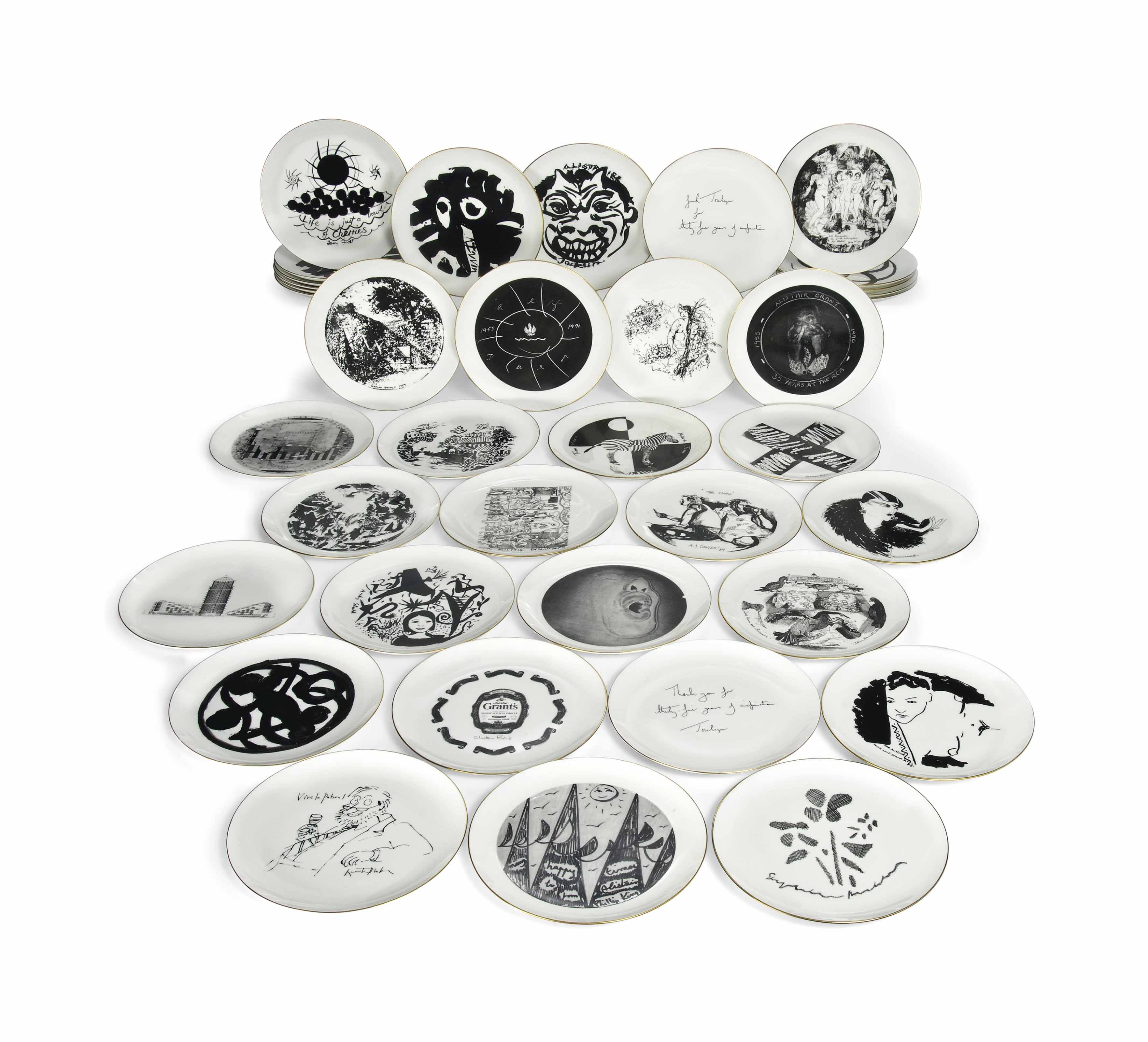 A SET OF PRINTED PLATES COMMIS