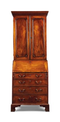 A GEORGE III FIGURED MAHOGANY