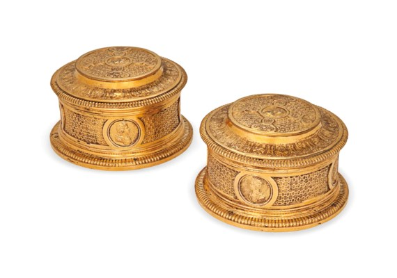 A SET OF SIX FRENCH PAINTED AN